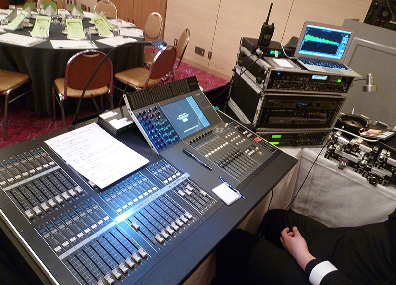 某ホテル音響機材設置